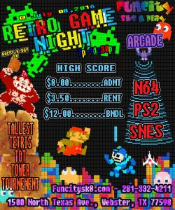 retro game skate night